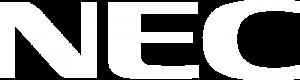 nec logo white