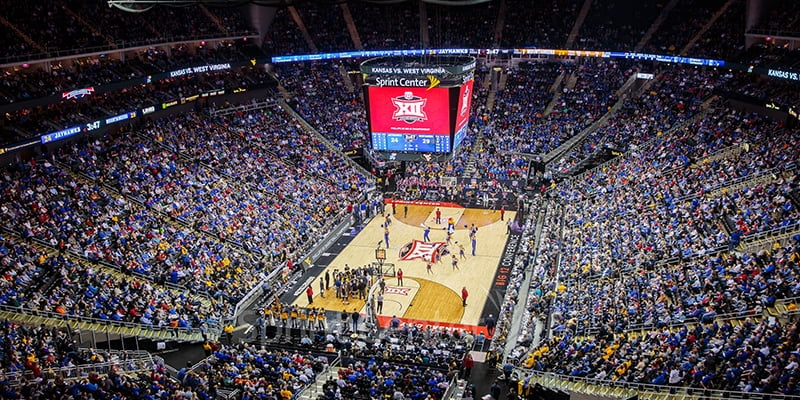 Big 12 Championship - Kansas vs. West Virginia at Sprint Center in Kansas City, Missouri on March 9, 2018